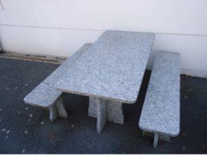 Table et banc en granit 4 cm